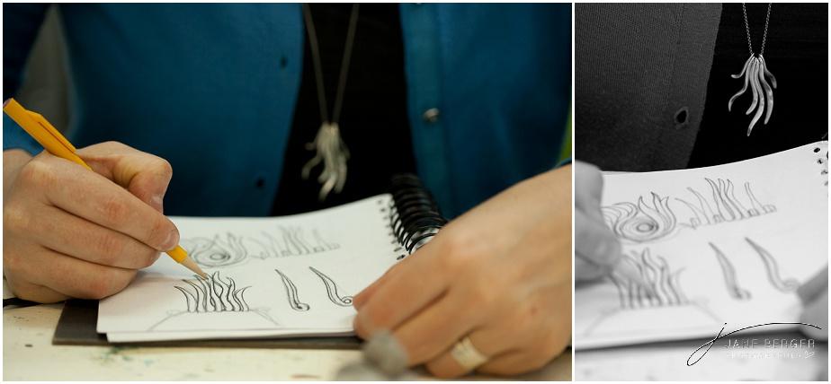 sketching and designing