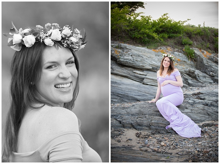 maternity session kettle cove maine
