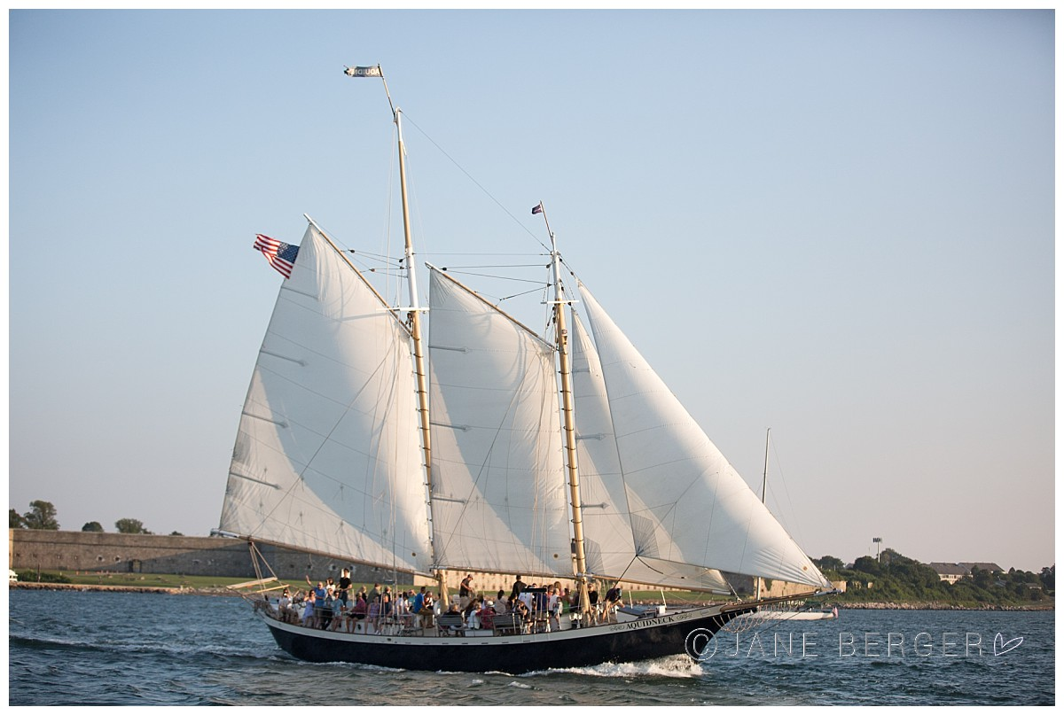 newport harbor sailing and celebration